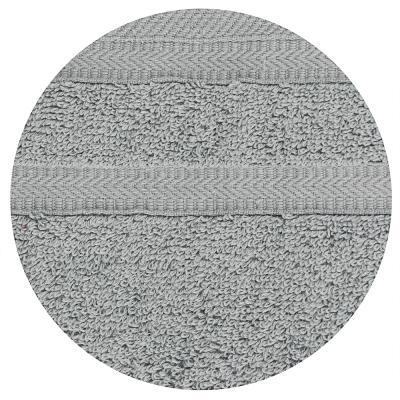 "489-184 Полотенце махровое PROVANCE ""Виана"" 50х90см, 100% хлопок, светло-серый"