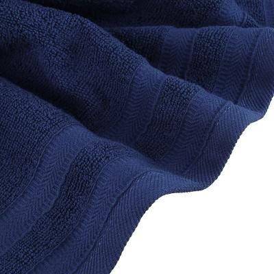 """489-189 Полотенце махровое PROVANCE """"Виана"""" 50х90см, 100% хлопок, глубокий синий"""