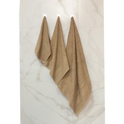 489-192 Полотенце махровое PROVANCE Наоми 50х90см, 100% хлопок, зелено-коричневый
