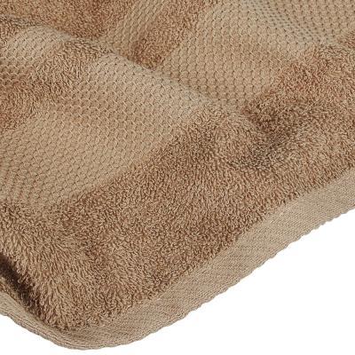 "484-925 Полотенце махровое PROVANCE ""Грейс"" 70х130см, 100% хлопок, зелено-коричневый"