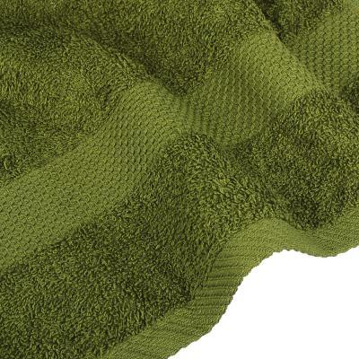 "489-193 Полотенце махровое PROVANCE ""Грейс"" 50х90см, 100% хлопок, темно-зеленый"