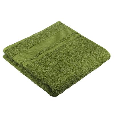 "484-926 Полотенце махровое PROVANCE ""Грейс"" 70х130см, 100% хлопок, темно-зеленый"