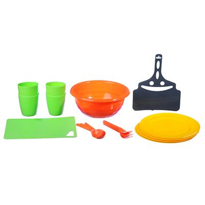 861-185 Набор посуды для пикника на 4 персоны, 19 предметов, пластик