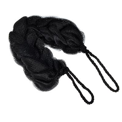 361-122 Мочалка-косичка, 70гр, черная