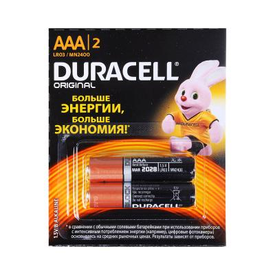 917-070 Батарейки DURACELL AAA, 2шт, отрывной набор (6*2) HBDC