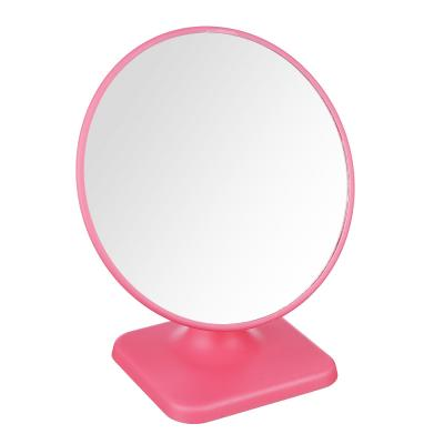 347-088 Зеркало настольное, пластик, стекло, 17х19см, 4 цвета, ЗН19-2