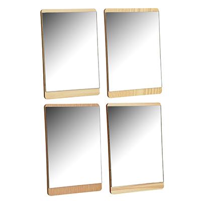 347-089 Зеркало настольное, МДФ, стекло, металл, 15х22,5см, 4 цвета, ЗН19-3