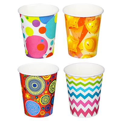 530-215 Набор бумажных стаканов 6шт, 200мл, арт 01