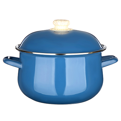 894-468 Кастрюля 3,6 л VETTA Глянец, эмалированная, синий