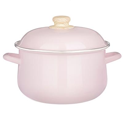 894-473 Кастрюля 5,0 л VETTA Глянец, эмалированная, розовый