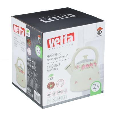 894-475 VETTA Розанна Чайник эмалированный 2,5л, новая форма