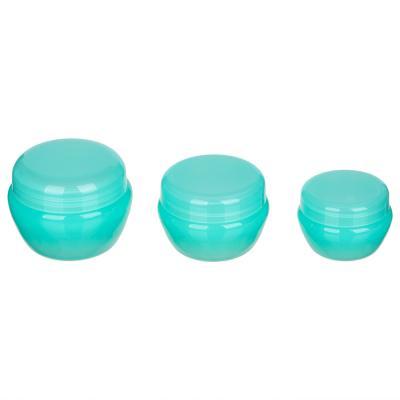 357-188 Набор косметических баночек, 3шт(10г,20г,30г), пластик, 2-3 цвета