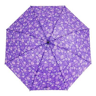 302-323 Зонт женский, механика, сплав, полиэстер, 53см, 8 спиц, 4 дизайна, 10598-1