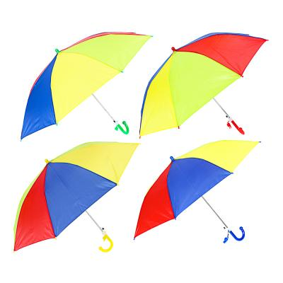 302-325 Зонт-трость детский, полиэстер, пластик, сплав, 43см, 8 спиц, 3-4 цвета