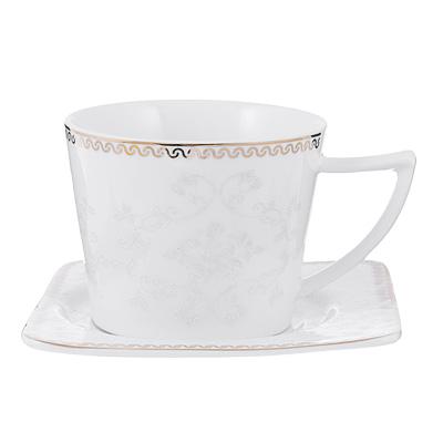 802-017 Чайный сервиз 12 предметов MILLIMI Амели 220мл, костяной фарфор