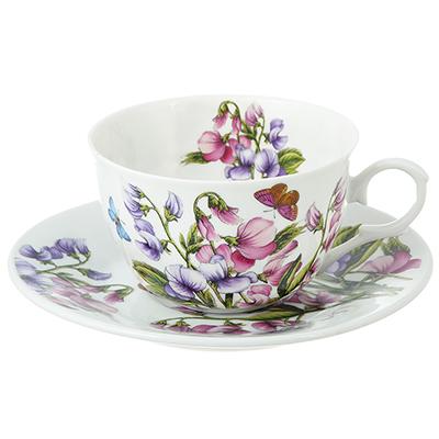 802-227 Чайный сервиз 12 предметов MILLIMI Камила 250мл, тонкий фарфор