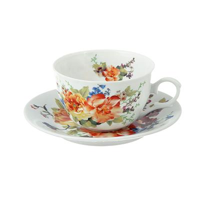 802-230 Чайный сервиз 12 предметов MILLIMI Каприз 250мл, тонкий фарфор