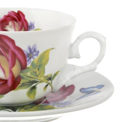 802-233 Чайный сервиз 12 предметов MILLIMI Коппелия 250мл, тонкий фарфор