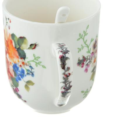 802-235 Чайный сервиз MILLIMI Каприз (кружка, ситечко, ложка, крышка), костяной фарфор