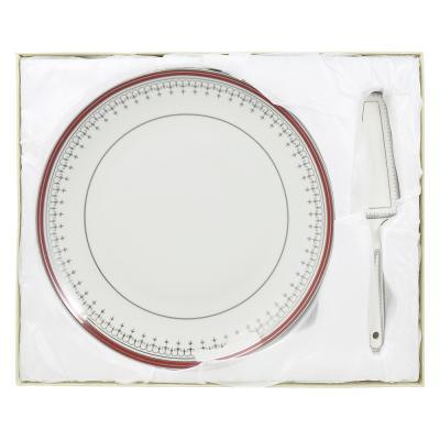 802-275 Набор для торта 2 предмета (блюдо, лопатка), фарфор