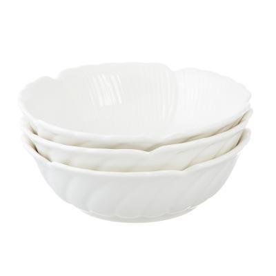 802-278 Набор блюд 3 предмета MILLIMI Цветок 15,5х4,5см, костяной фарфор