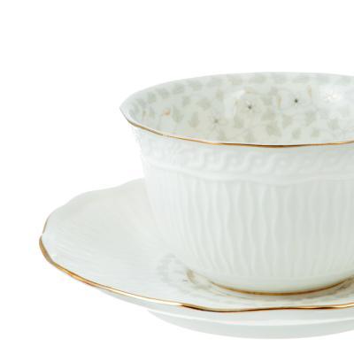 802-281 Чайный сервиз 12 предметов MILLIMI Вивьен 250мл, костяной фарфор