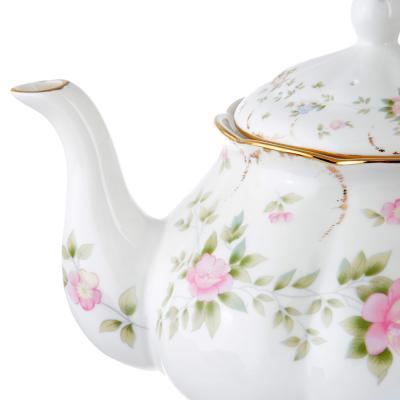 802-296 Чайник заварочный MILLIMI Вуаль 1250мл, костяной фарфор