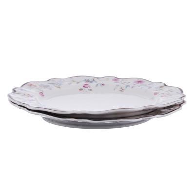 821-033 MILLIMI Маркиза Набор тарелок 3пр., 23 см, костяной фарфор