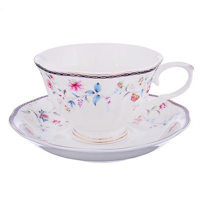 821-038 MILLIMI Маркиза Набор чайный 2 пр. (чашка 250мл, блюдце 15см), костяной фарфор