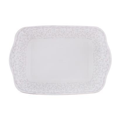 821-108 MILLIMI Тайна Форма для запекания и многослойных салатов 28x17,5x6см, костяной фарфор
