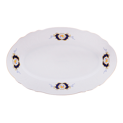 821-112 MILLIMI Менуэт Блюдо овальное, 30,5х18,5х2.5см, костяной фарфор