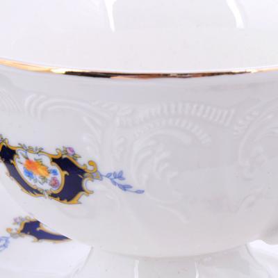 821-118 MILLIMI Менуэт Набор чайный 2 пр.(чашка 230мл, блюдце 15см), костяной фарфор