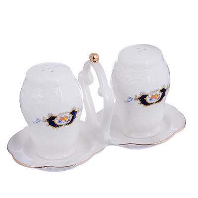 821-123 MILLIMI Менуэт Набор для соли и перца, 15х8х8см, костяной фарфор