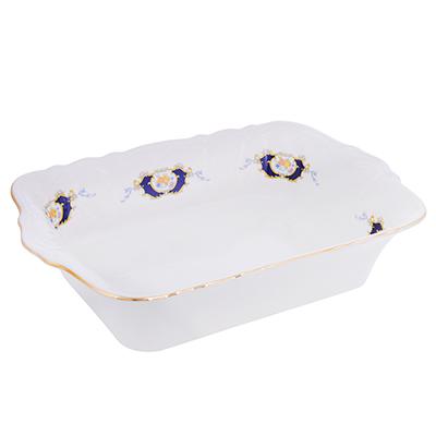 821-124 MILLIMI Менуэт Форма для запекания и многослойных салатов, 28х17,5х6см, костяной фарфор