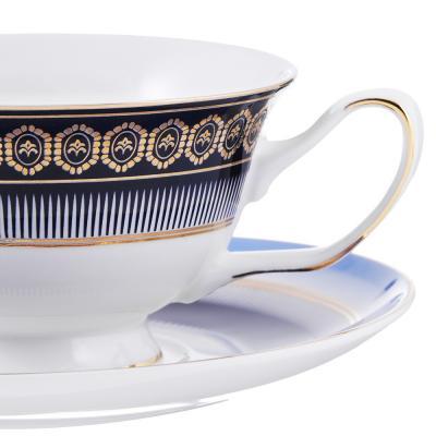 802-338 Чайный сервиз 12 предметов MILLIMI Адмирал 220мл, костяной фарфор