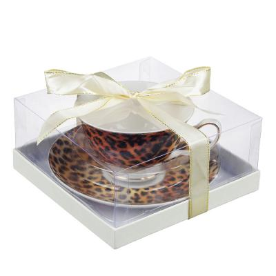 802-339 Чайный сервиз 2 предмета MILLIMI Леопард 220мл, костяной фарфор