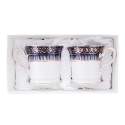 802-353 Набор кофейных кружек 2 предмета MILLIMI Адмирал 200мл, костяной фарфор