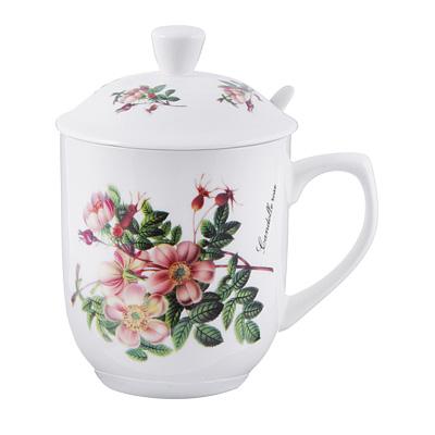 802-356 Чайный сервиз MILLIMI Ивона (кружка, ситечко, ложка, крышка), костяной фарфор
