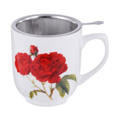 802-357 Чайный сервиз MILLIMI Румба (кружка, ситечко, ложка, крышка), костяной фарфор