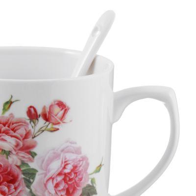 802-358 Чайный сервиз MILLIMI Романс (кружка, ситечко, ложка, крышка), костяной фарфор