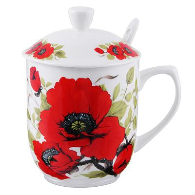 802-359 Чайный сервиз MILLIMI Вдохновение (кружка, ситечко, ложка, крышка), костяной фарфор