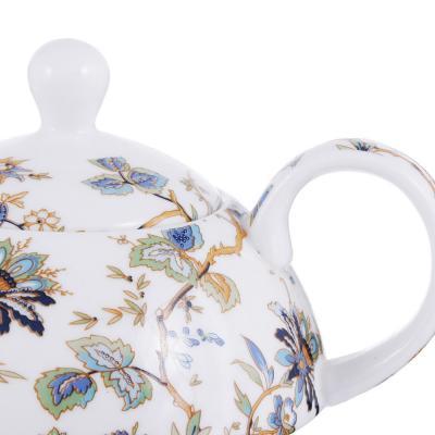 802-406 Чайный сервиз MILLIMI Жар птица (чайник, чашка, блюдце) костяной фарфор