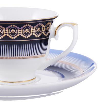 802-426 Набор кофейный 4 предмета MILLIMI Адмирал 90мл, костяной фарфор