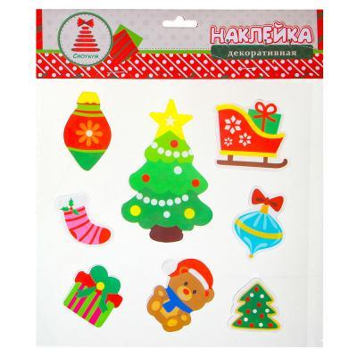 336-312 Новогодние наклейки СНОУ БУМ 25х20 см, 6 дизайнов