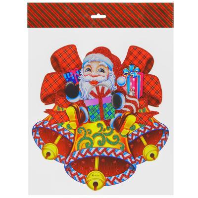 336-334 СНОУ БУМ Панно бумажное, 31 см, с Дедом Морозом