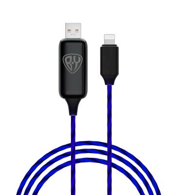 443-013 Кабель для зарядки FORZA iP, с LED подсветкой, 1м, 2.4А, покрытие TPE