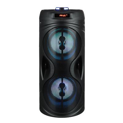 443-016 Колонка беспроводная FORZA со светомузыкой, 2400мАч, 10Вт, AUX, USB, черныйматовый