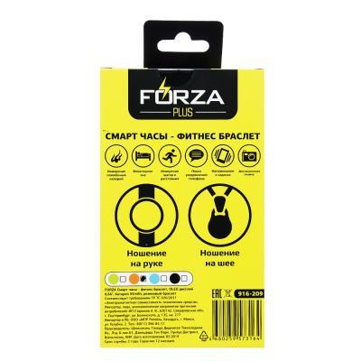 """916-209 Смарт браслет FORZA силикон, пластик, OLED дисплей 0,66"""", батарея 55 mAh"""