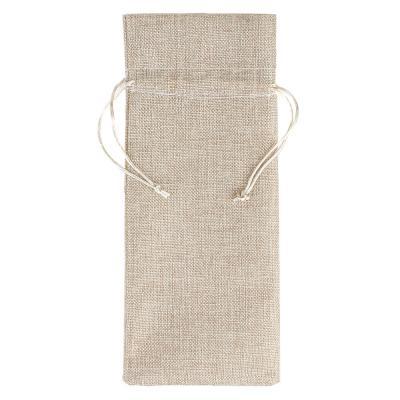 207-034 Мешок подарочный, ткань, полиэстер, 14х37 см, для бутылки