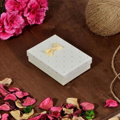 207-042 Коробка подарочная с бантом, 11х8х2,5 см, 6 цветов